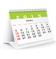 April 2015 desk calendar vector image vector image