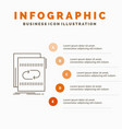 audio file loop mix sound infographics template vector image