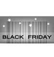 Back Friday Barcode for Special Price Products vector image