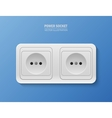 background with realistic power socket vector image vector image