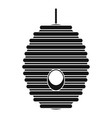 bee hive tree icon simple style vector image vector image