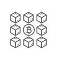 bitcoin blockchain line icon vector image