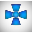 Blue Cross of a military medal vector image vector image