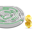 business circular labyrinth vector image