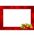 christmas frame 2411 01 vector image vector image