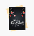 christmas party cards and poster vector image vector image