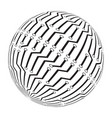circut board globe logo symbol icon design vector image