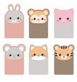 collection of cute cards collection of cute cards vector image vector image