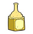 comic cartoon whiskey bottle vector image