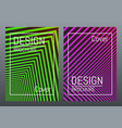 cover design template color abstract lines with vector image vector image