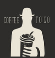creative banner for a coffee to go vector image