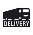 delivery service logo vector image