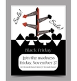 Direction Arrows Black Friday Banner Card vector image vector image