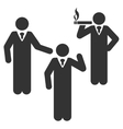 Discuss Standing Persons Flat Icon vector image vector image