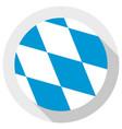 flag bavaria round shape icon on white vector image