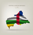 Flag of the Central African Republic as a country vector image vector image
