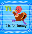 flashcard letter t is for turkey vector image vector image