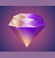 flat shinnny diamond isolated background vector image