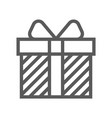 gift and surprise line icon vector image vector image