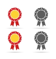 golden badge and monochrome medals in vector image
