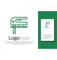 green line electric jigsaw with steel sharp blade vector image vector image