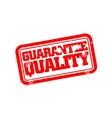 Guarantee quality rubber stamp vector image