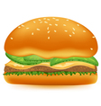 Hamburger on a white background vector image