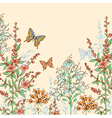 Hand drawn spring floral background vector image vector image