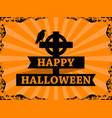 happy halloween october 31st raven on the cross vector image vector image