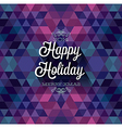 hipster Happy holiday dark vector image vector image