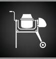 icon of concrete mixer vector image vector image
