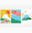 japanese background with asian icon and symbol vector image