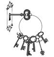 key in lock vector image vector image
