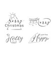 lettering desing template vector image vector image