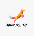 logo jumping fox gradient colorful style vector image