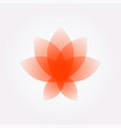 lotus flower logo sign flat flower icon vector image vector image