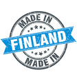 made in Finland blue round vintage stamp vector image vector image