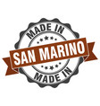 made in san marino round seal vector image vector image