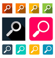 Magnifying Glass Search Flat Design vector image vector image
