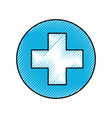 medical cross isolated icon vector image vector image