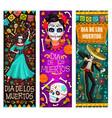mexican dead day fiesta party dia de los muertos vector image vector image
