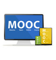 mooc devices vector image
