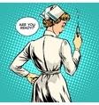 Nurse makes a shot vaccination vector image vector image