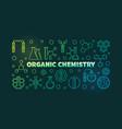 organic chemistry outline banner chemistry vector image