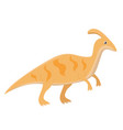 parasaurolophus dinosaur isolated vector image
