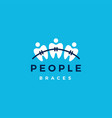 people dental braces logo icon vector image vector image