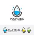 plumbing logo design vector image vector image