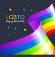 realistic detailed 3d lgbtq happy pride day card vector image vector image