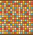 retro mosaic square seamless pattern vector image