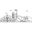 russia ufa architecture line skyline vector image